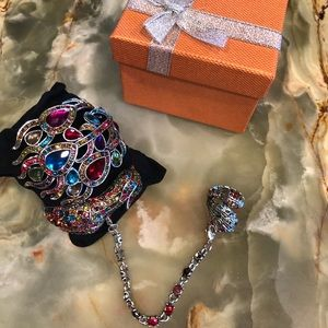 Beautiful Peacock Slave Ring Bracelet.🦚